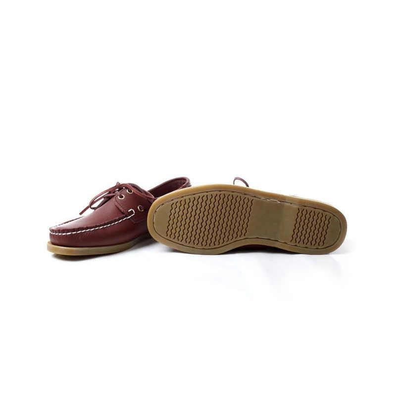 Merek Asli Kulit Mengemudi Perahu Sepatu Pria Renda Flat Sepatu Sandal Gommino Pria 2020 Baru Bernapas Sepatu Kasual Ukuran Besar