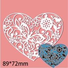 Cutting-Dies Embossing-Stencil Paper-Card Craft Scrapbooking Metal Butterfly Heart 89-72mm