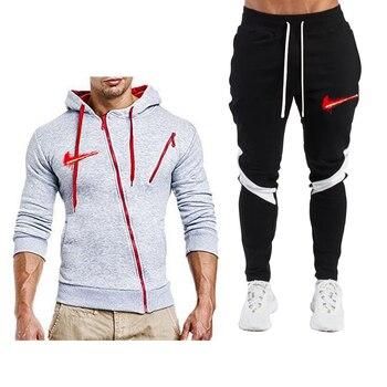 Men's sports suits, men's sportswear, two-piece suits, men's suits, spring and autumn men's sportswear, hoodies + sweatpants