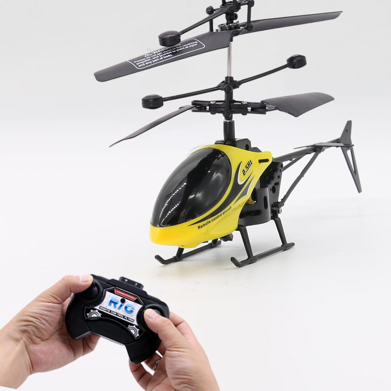 Small Wholesale Men's Remote Control CHILDREN'S Toy GIRL'S Airplane Helicopter Drop-resistant Rechargeable Electric Air Handle O