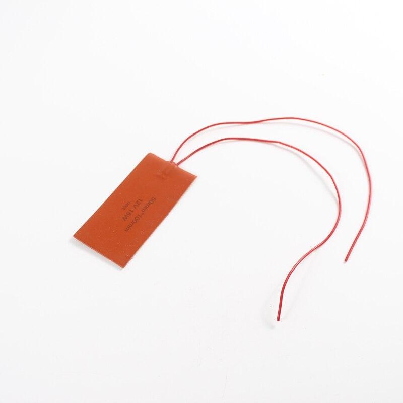 100x50 мм, 5 В, 12 В, 24 В, 36 В, 48 В, 110 В, 220 В, 380 В, силиконовая грелка, резиновый коврик с подогревом, пластина с подогревом, гибкий водонепроницаемый ...