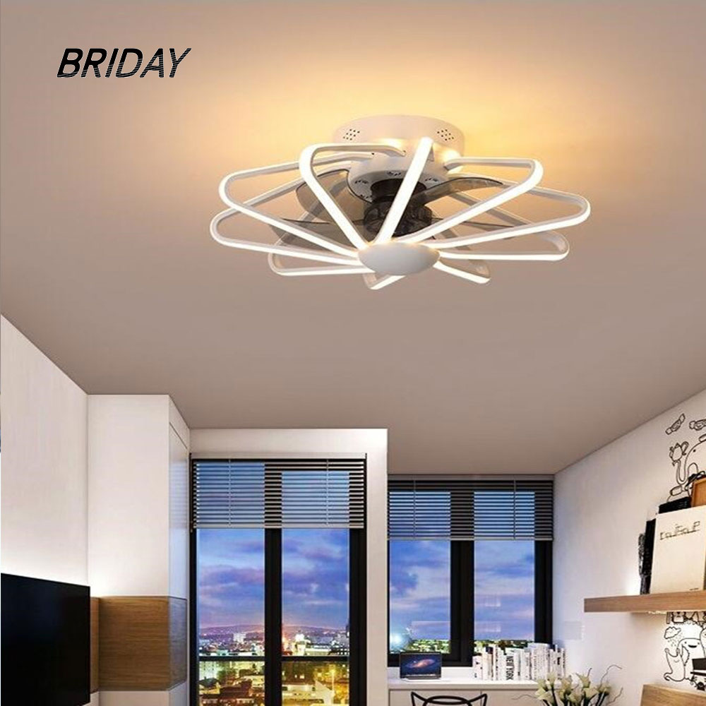 Ceiling Ventilator Lamp Fan Light Bedroom Living Room Lamps Integrated LED Fans AC220V Pure Copper Motor With Remote Contorl