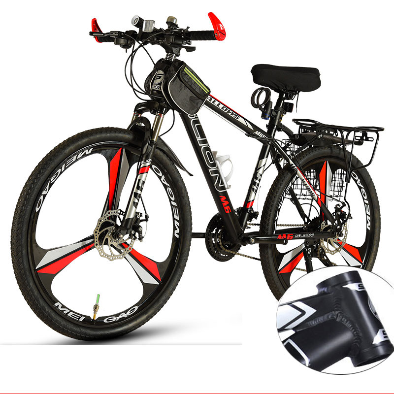 Mountain Bike 26 Inch Variable Speed Shock Absorption Double Disc Brake Student Adult Off-road Racing