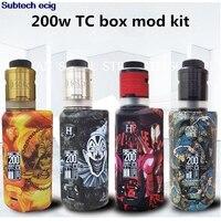 E cigarette Engeston Hela v2 200w box mod kit with RDTA RDA tank VW TCR Mod Temperature Control Vape vaporizer vapor pens