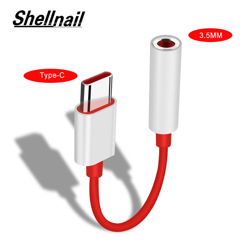 Shellnail Type C To 3.5mm Headphone Jack 3.5 AUX USB C Cable For Huawei P30 Pro Xiaomi Mi 9 8 Se Oneplus 7 Audio USB C Adapter