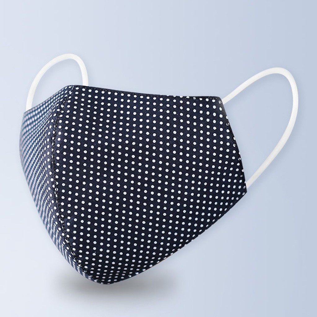 Fashion Polka Dot Printing Mask Anti-Dust Protective Mouth Mask PM2.5 Outdoor Washable Reuse Face Mask Protection Mouth Cover