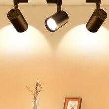 Rail Spotlights Lighting-Fixture Cob-Track-Lamp Home-Store 220V for Whole-Set 12/20/30/40w