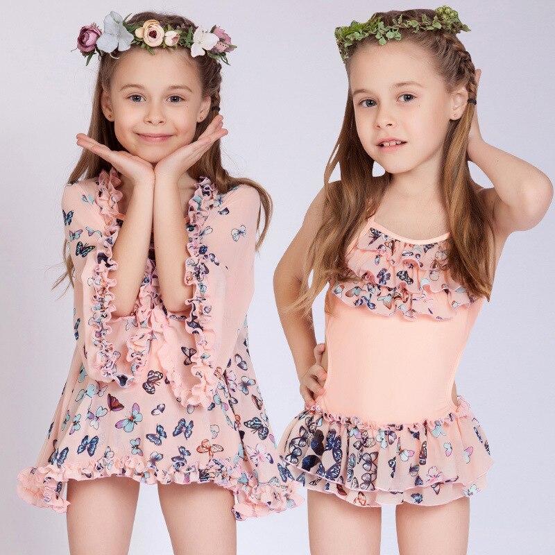 KID'S Swimwear Dress-Sweet Large Cover-up Girls Split Type Two-Piece Set Tour Bathing Suit Small Children Hot Springs Swimwear