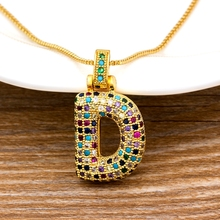 Name Necklace Jewelry Zircon Letter Pendant Initials Women Luxury Wedding-Party Fashion