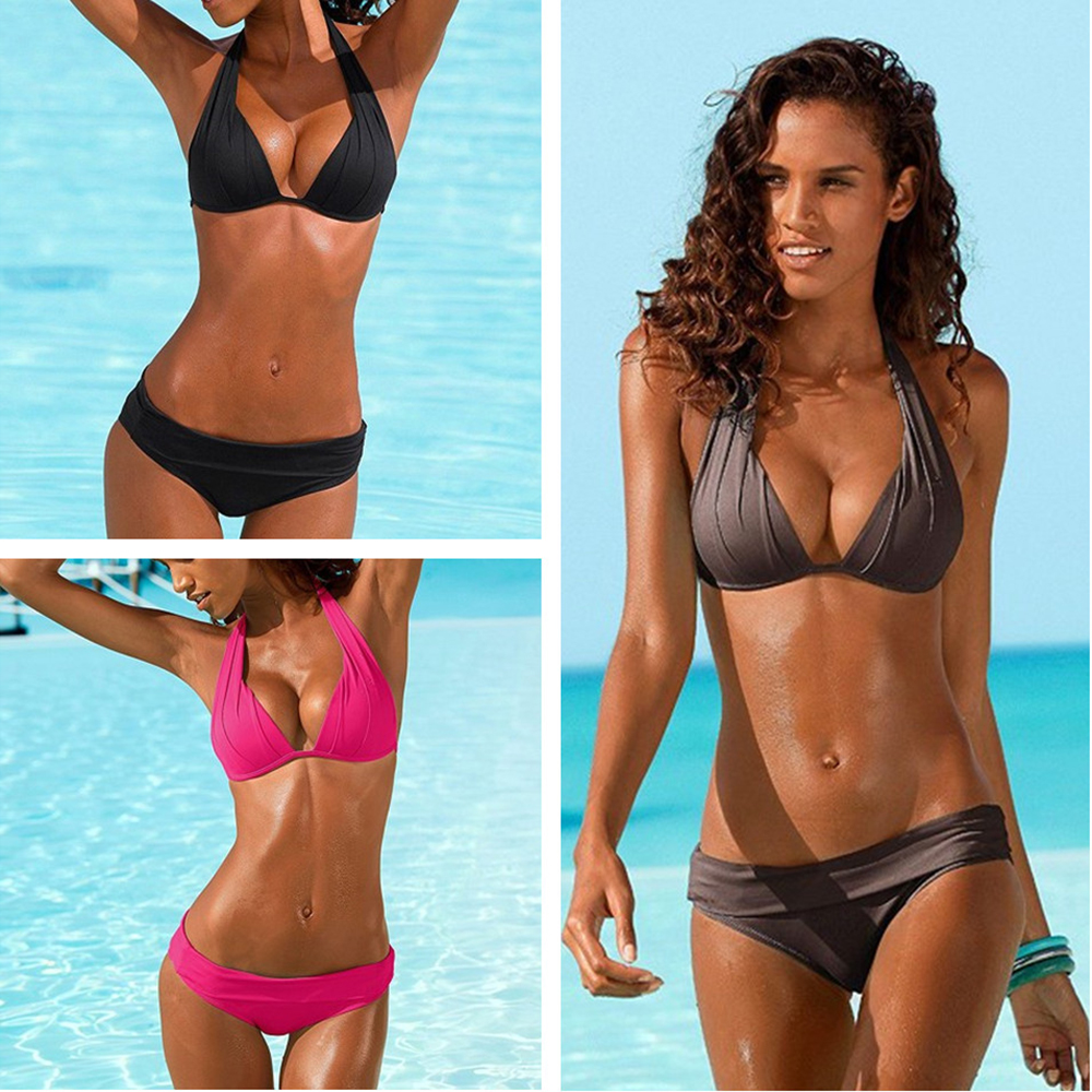 Sexy Bikini 2020 Swimsuit Women Swimwear Push Up Black Bikini Set Vintage Biquini Summer Bathing Suit Brazilian Bikinis