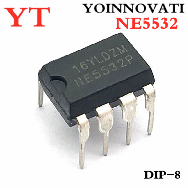 20PCS NE5532 NE5532P DIP-8 Dual Low Noise Op-Amp TI IC