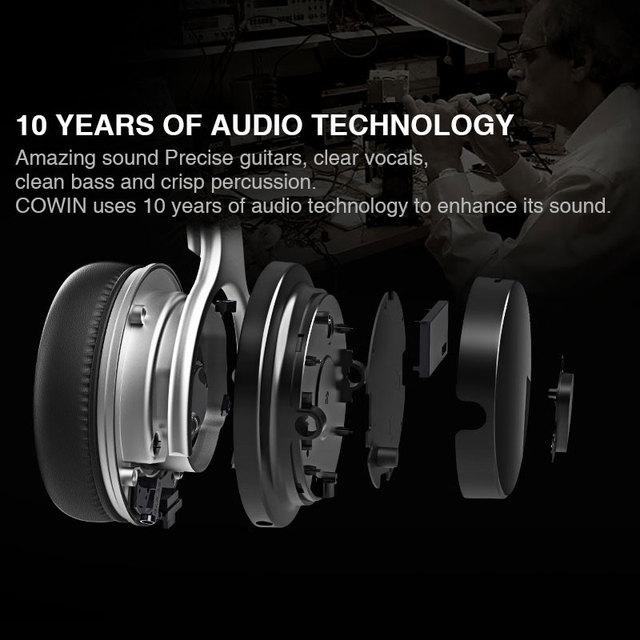 Cowin E-7 Bluetooth Headphones anc active noise cancelling 4