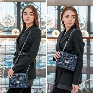 Image 3 - FOXER Brand Designer Women Shoulder Bags Female Flip Bag New Fashion Crossbody Bag Chain Strap Ladies Small Messenger Bags