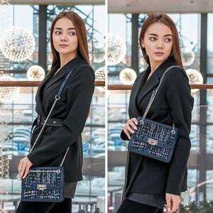 Image 3 - FOXER العلامة التجارية مصمم حقائب كتف المرأة حقيبة الوجه الإناث موضة جديدة حقيبة كروسبودي سلسلة حزام السيدات حقيبة ساع صغيرة