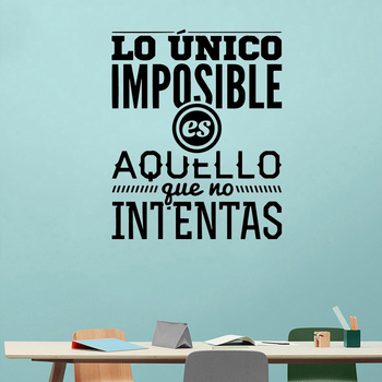 NEW Spanish Sentences Wall Stickers Vinyl Decal For Room Decoration Wall Decals Sticker Frase Wallpaper Poster Mural large spanish quotes phrase wall decals wallpaper vinyl stickers for office room decal wall sticker home decoration poster mural