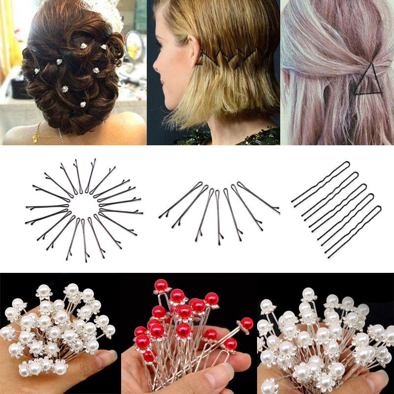 1 PC Women Fashion Paperclip Hair clips Girls Metal Minimalist Personality Hairp