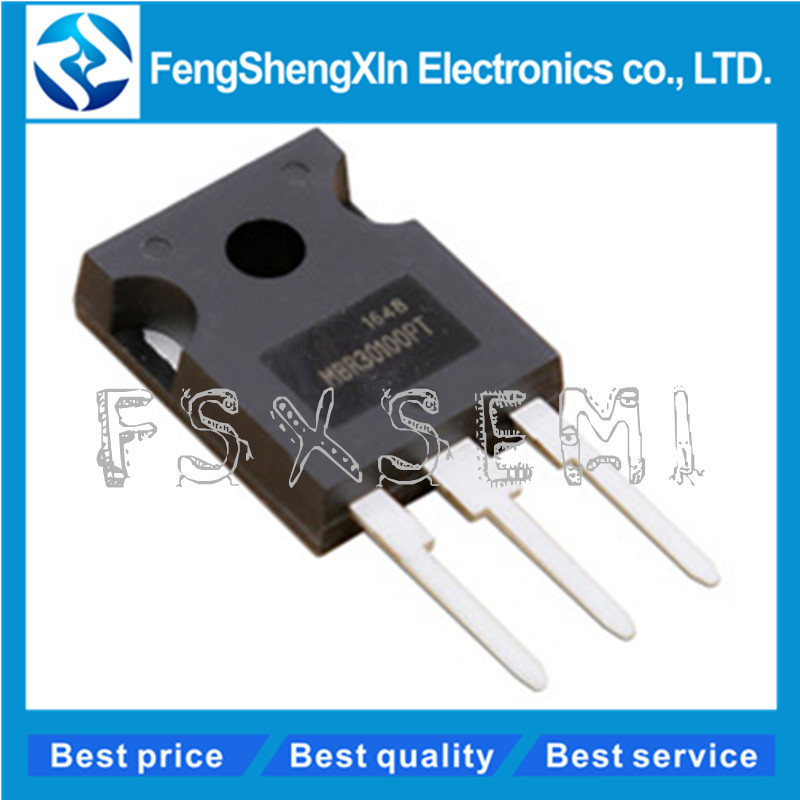 5pcs/lot MBR30100PT MBR30100 Schottky diode 30100PT TO-3P 30A 100V TO-247