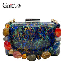 Colorful Acrylic Bags Vintage Clutches Evening Bags Party Prom Handbags Women Chain Shoulder Bags Ladies Mrs Bridesmaid Hot