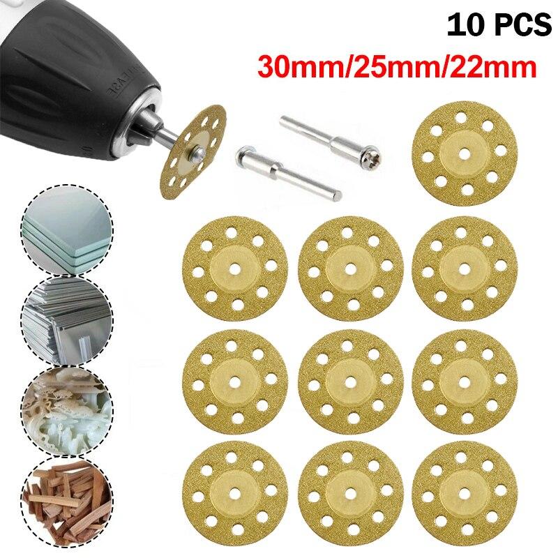 10PCS Dremel Accessories Diamond Grinding Wheel Diamond Circular Cutting Saw Blades Cut Off Discs Set For Dremel Rotary Tool