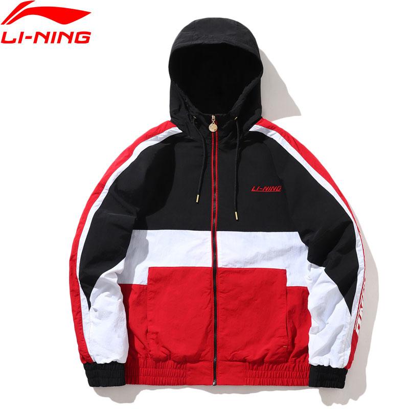 Li-Ning Men The Trend Windbreaker Jacket Nylon Loose Fit LiNing Li Ning Comfort Sports Hooded Wind Jackets Coats AFDP597 MWF410