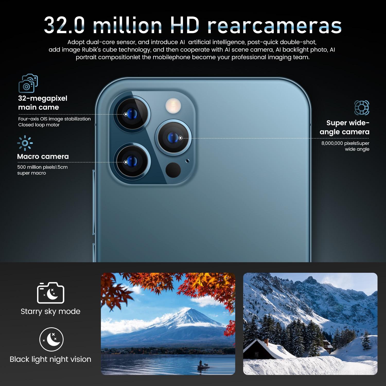 I12 Pro Max Grensoverschrijdende 6.7 Inch 12 + 512Gb Smartphone Fabrikanten Directe Verkoop Ik Mobiele Telefoon Android10.0 6