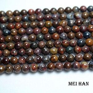 Image 1 - Meihan freeshipping (2 fili/set) naturale 6 millimetri Pietersite rotonda incredibile perline di pietra per monili che fanno di disegno Di Natale