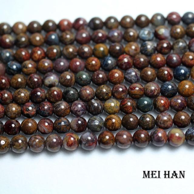 Meihan freeshipping (2 fili/set) naturale 6 millimetri Pietersite rotonda incredibile perline di pietra per monili che fanno di disegno Di Natale