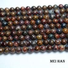 Meihan freeshipping (2 strands/set) natural 6mm Pietersite round amazing beads stone for Christmas jewelry making design