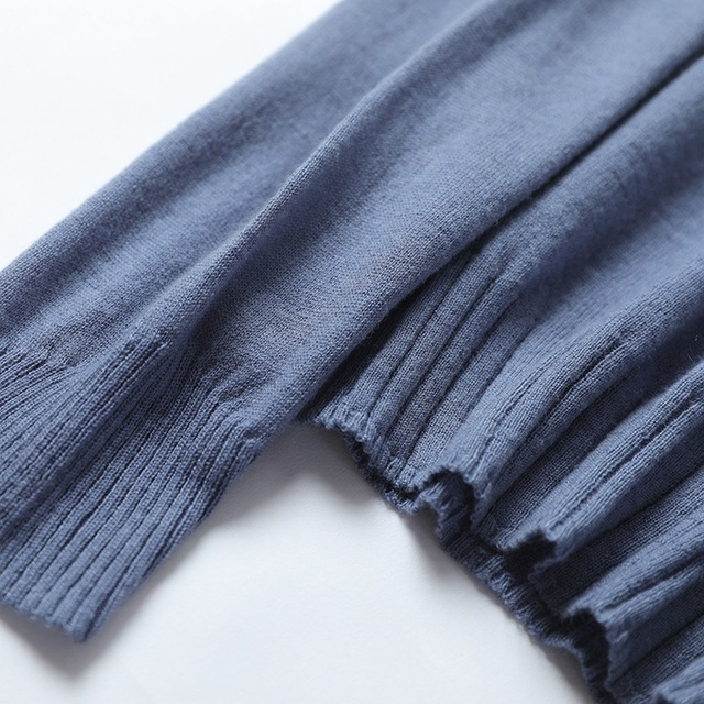 Фото весенне осенний корейский свитер с круглым вырезом из камвольной цена