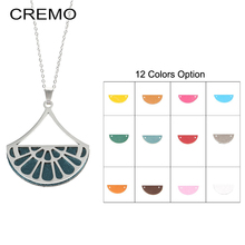 Cremo Chain Necklaces Cute Fan Pendant Choker Necklace Interchangeable Leather Charm Women Jewelry & Pendants