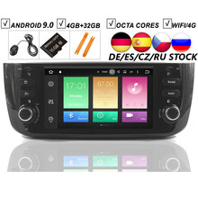 Auto Android 9.0 DVD GPS Speler Voor FIAT LINEA PUNTO EVO Auto Radio Stereo BT Wifi Octa Core Spiegel Link 4GB + 32GB KAART DVR SD DAB +(Hong Kong,China)