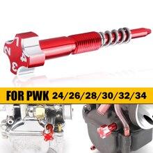 高品質cncアルミ合金オートバイキャブレター空気燃料混合のpwk 24 26 28 30 32 34ミリメートル炭水化物