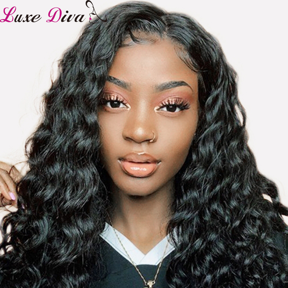 Brazilian Loose Deep Lace Front Wig Luxediva Hair Lace Frontal Wig Human Hair Remy Deep Curly Wig For Black Women Free Shipping