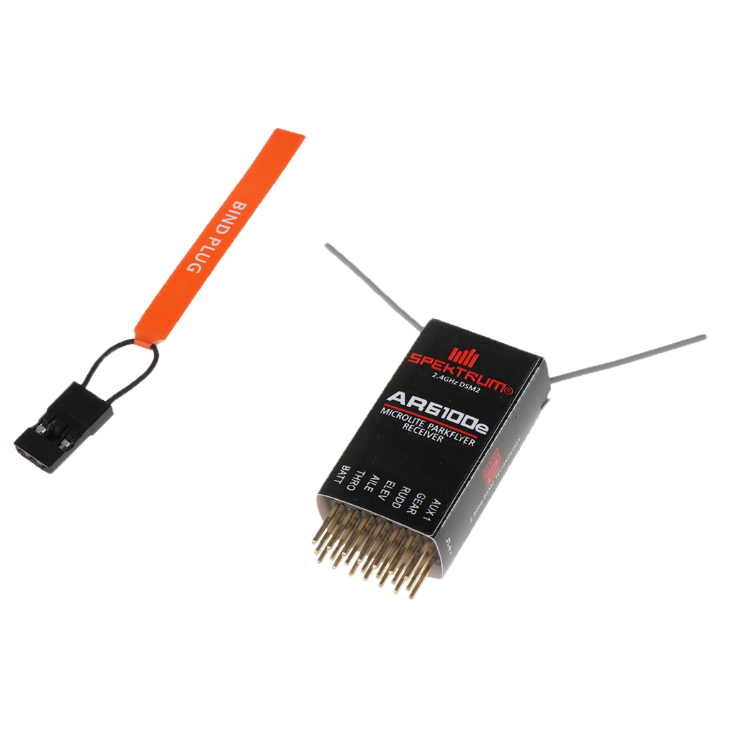 AR6100E 2.4Ghz DSM2 Spektrum 6CH Receiver For DX6I ,DX18, DX8 ,DX9 ,DEVO10 ,Transmitter  RC