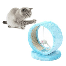 Cat Scratcher Tree Pet Play Toy Mouse Furniture Scratching Post Climbing Frame Product Jumping Pinh/Blue