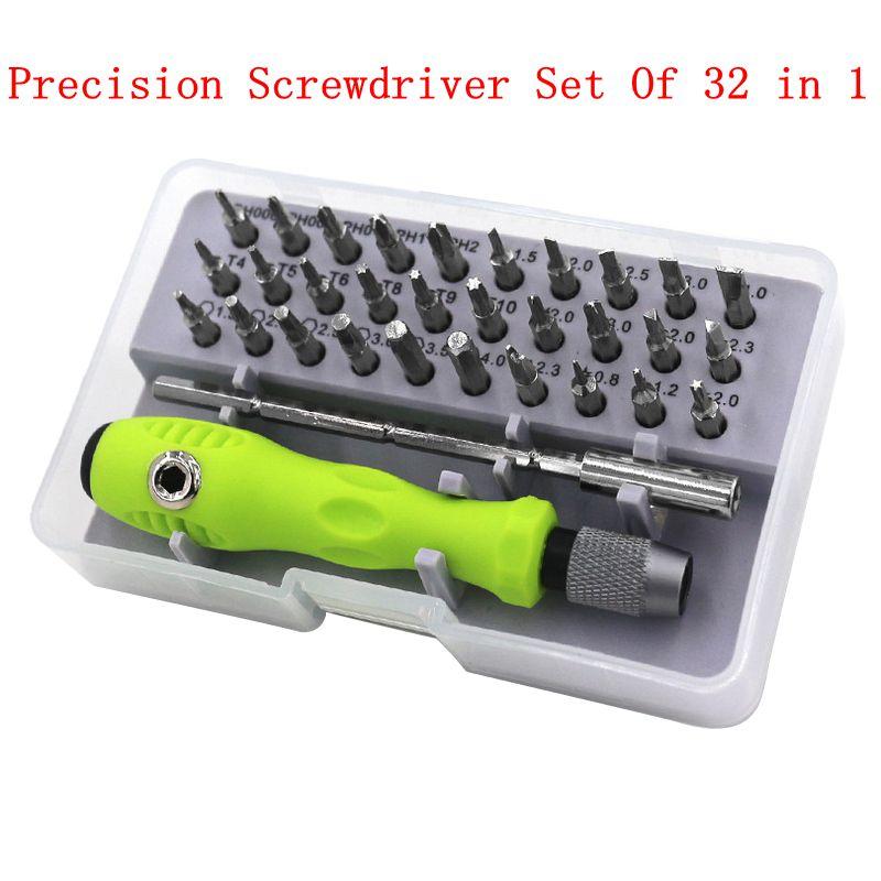 32 in 1 Precise Screwdriver Set Mini Magnetic Bit Kit Phone Laptop Mobile Tool