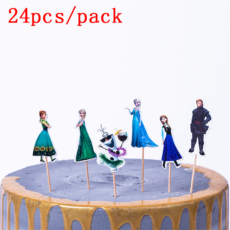 Brilliant 24Pcs Frozen Birthday Party Girls Favors Decoration Baby Shower Funny Birthday Cards Online Elaedamsfinfo