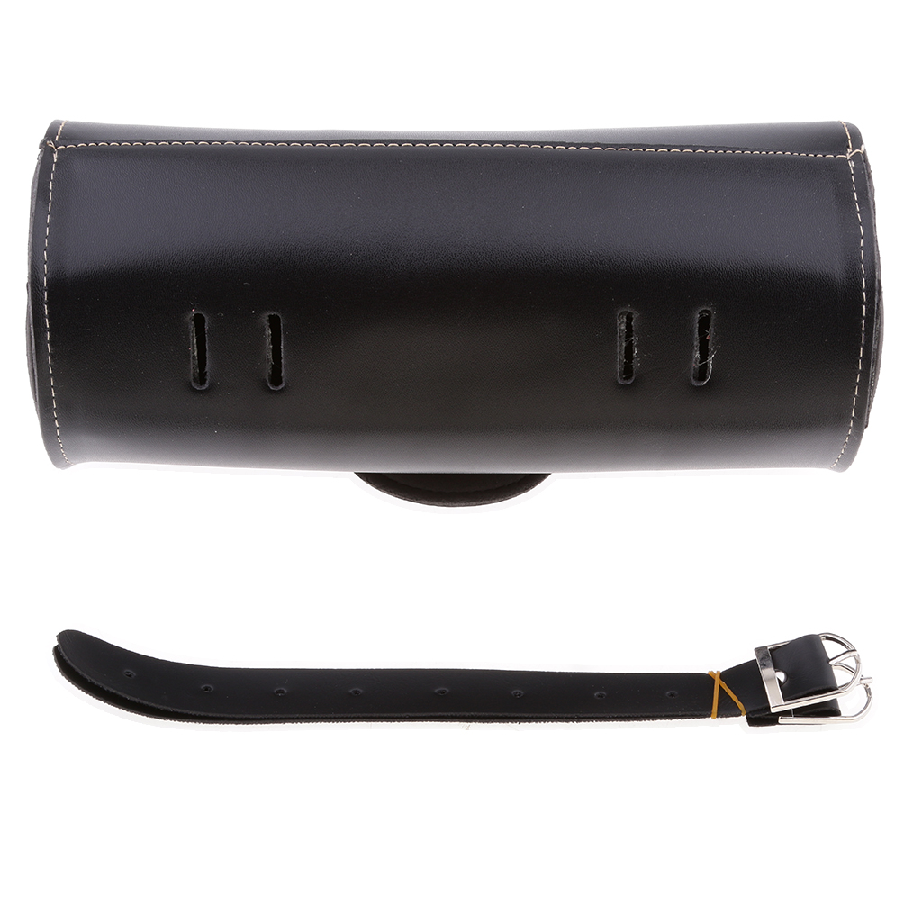 PU Leather Black Motorcycle Tool Bag Saddlebag For Harley Universal