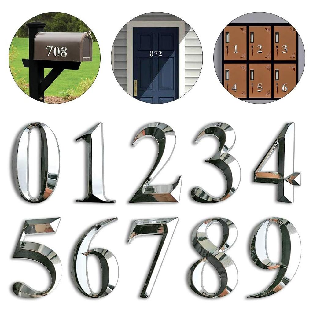 Samoprzylepne numer drzwi naklejki numer domu płyta drzwi znaki dla dostosuj apartament Hotel dom drzwi biurowe numer skrzynki pocztowej