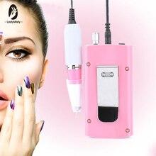 Akumulator 18W 30000RPM elektryczna wiertła do paznokci tipsy akrylowe pilnik zestaw do Manicure i Pedicure zestaw Nail Art Equipment