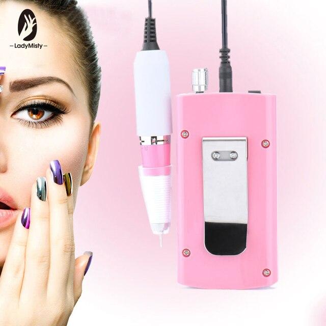 Ricaricabile 18W 30000RPM Electric Nail Drill Macchina Acrilico Nail Drill File di Pedicure del Manicure Kit Set Unghie Artistiche Attrezzature