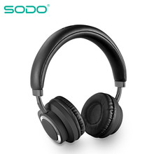 SODO SD-1005 Bluetooth Headphone On-Ear Wired Wireless Headphones Foldable Bluetooth 5.0 Stereo Headset with Mic Support TF Card l3 bluetooth 4 2 headphone hifi stereo foldable bass wireless music headset support tf card 3 5mm wired mic led for iphone ipad