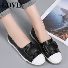 Women Ballet Flats Shoes Genuine Leather Slip on ladies Shallow Moccasins Casual Shoes Female Summer Loafer Shoes Women Summer women summer flats genuine leather casual shoes shallow slip on loafers moccasins shoes chaussure femme plus size 35 43