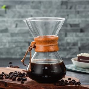 400 мл термостойкий стеклянный кофейник для залейки кофе из нержавеющей стали Фильтр чайник домашняя кофейная посуда машина