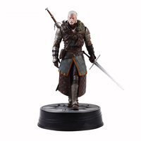 Warrior with sword Witch Wild Hunting Geralt of Rivia PVC Material Desktop Decoration Action Figure Dolls Toys decoration shows
