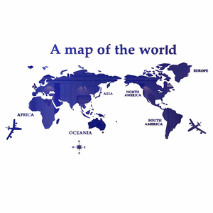 Image 5 - Large size World Map Acrylic 3D Wall Stickers for Living Room Sofa Background Mirror Wall Stickers DIY Art Home Decoration