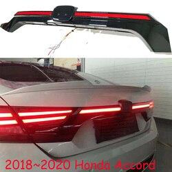 1 قطعة سيارة الوفير الذيل ضوء ل Accord الضوء الخلفي مصباح مكبح 2018 ~ 2021y LED اكسسوارات السيارات Taillamp ل أكورد الخلفية الضباب الخفيف