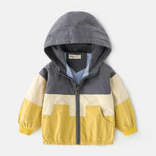 2019 Autumn Patchwork Jacket Boys Girls Kids Outerwear Boys Windbreaker Coats Fashion Print Canvas Baby Children Clothing недорого