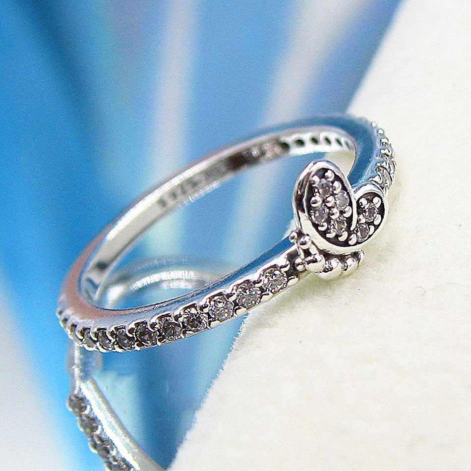 Nieuwe 925 Sterling Zilveren Ring Bedazzling Vlinder Ringen Met Crystal Voor Vrouwen Wedding Party Gift Fijne Europa Sieraden