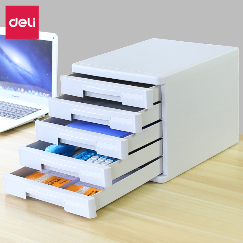 Cabinet Drawer Type Storage Cabinet Four-five Layer A4 Office Plastic File Cabinet Small Table File Storage Box